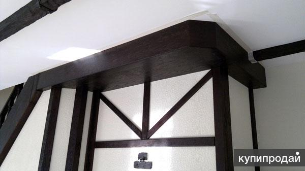 Короба потолочные, имитация балок из дуба, карагача и ясеня