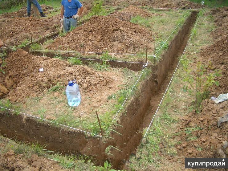 Земляные работы, расчистка участков.