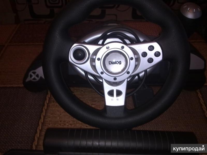 Руль с педалями для компьютерных игр