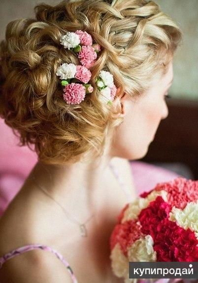 цветы для свадебной прически фото