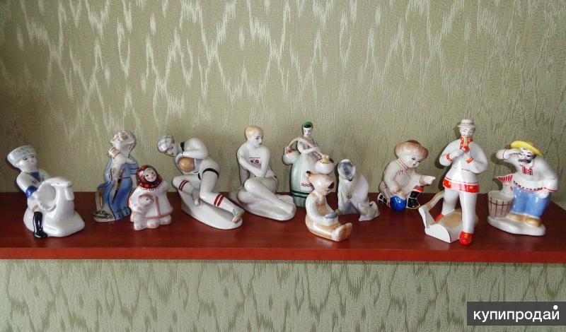 статуэтки советский фарфор 1940-1950-е годы