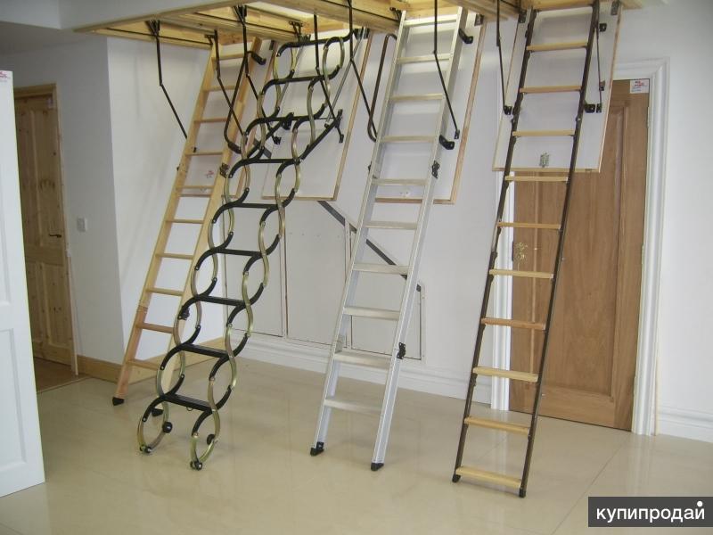 Чердачные лестницы FAKRO, VELUX, OMAN с установкой дешево.