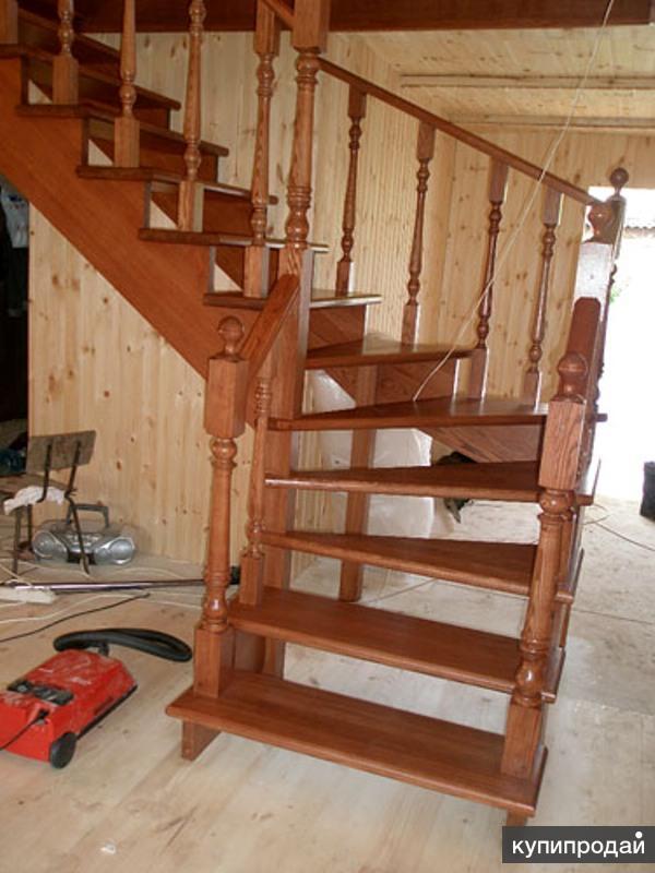 Дерев лестница на второй этаж своими руками видео 181
