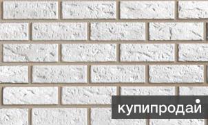 Панель фасадная Файнбир, кирпич мелованный белый
