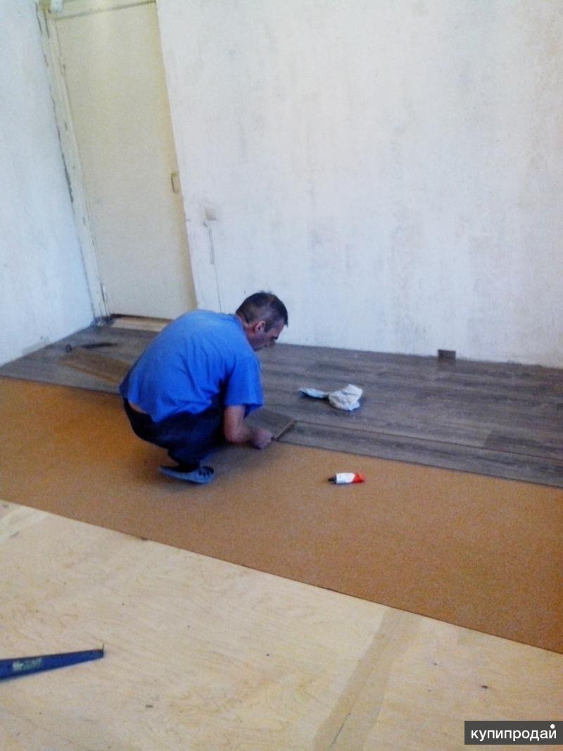 Замена деревянного  пола