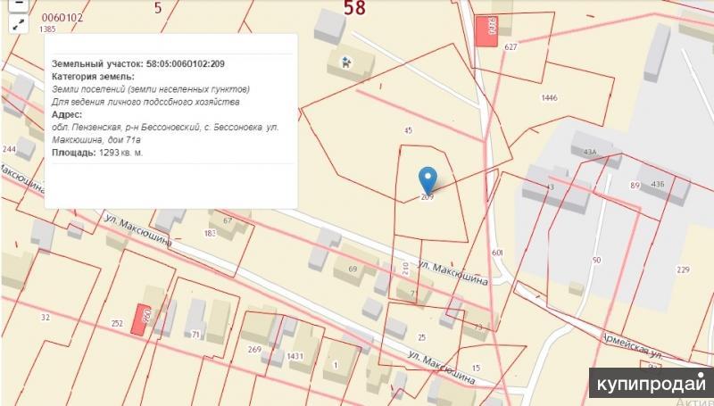 Продам земельный участок 13 соток по ул. Максюшина д.71 А