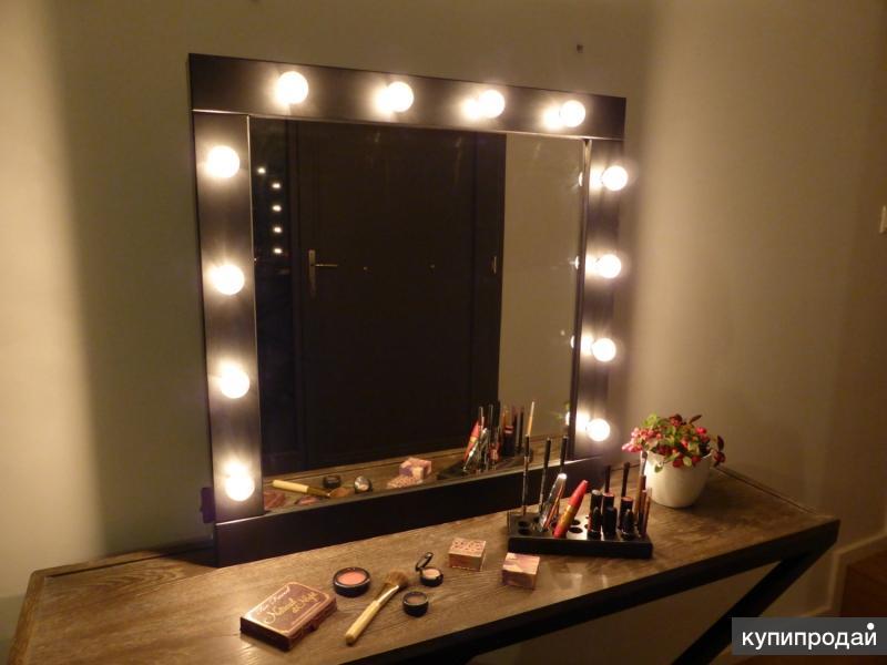 Гримерное зеркало с подсветкой своими руками 45