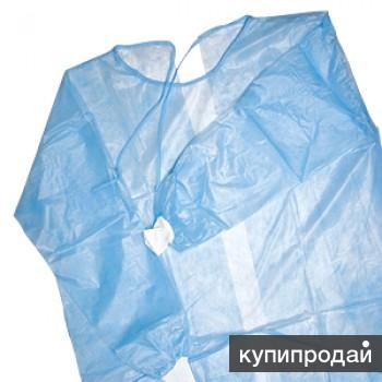 Одноразовые медицинские халаты стардарт