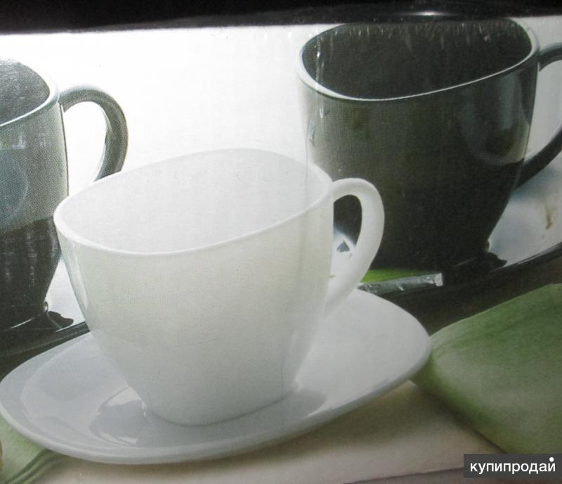 Чайный набор чёрно-белый, ф. Luminarc, Франция