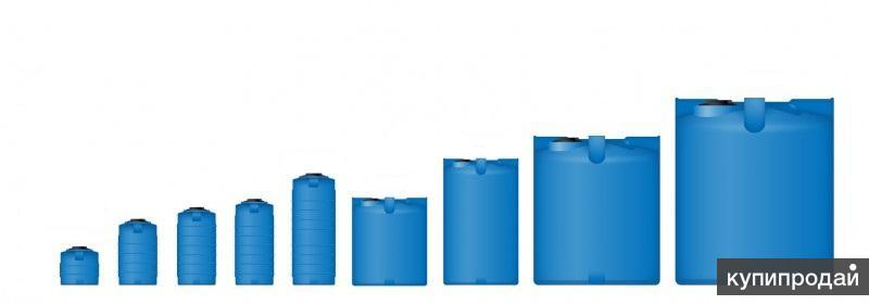 Резервуары, емкости из пищевого полиэтилена от 100л до 10 000л