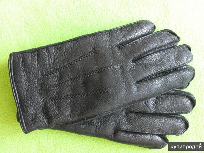 Перчатки мужские кожаные зимние