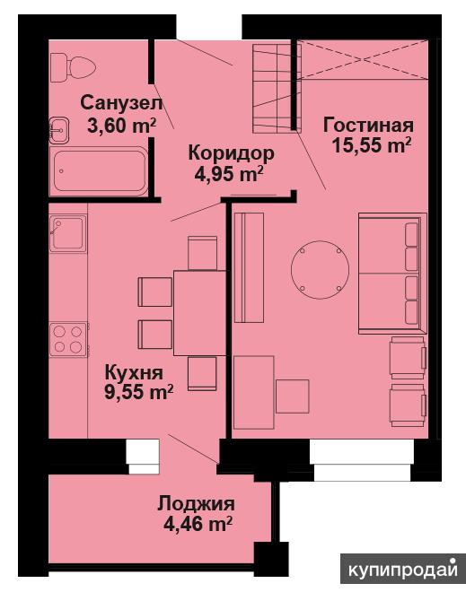 1-комнатная квартира на продажу ул Милицейская 76 , Центр