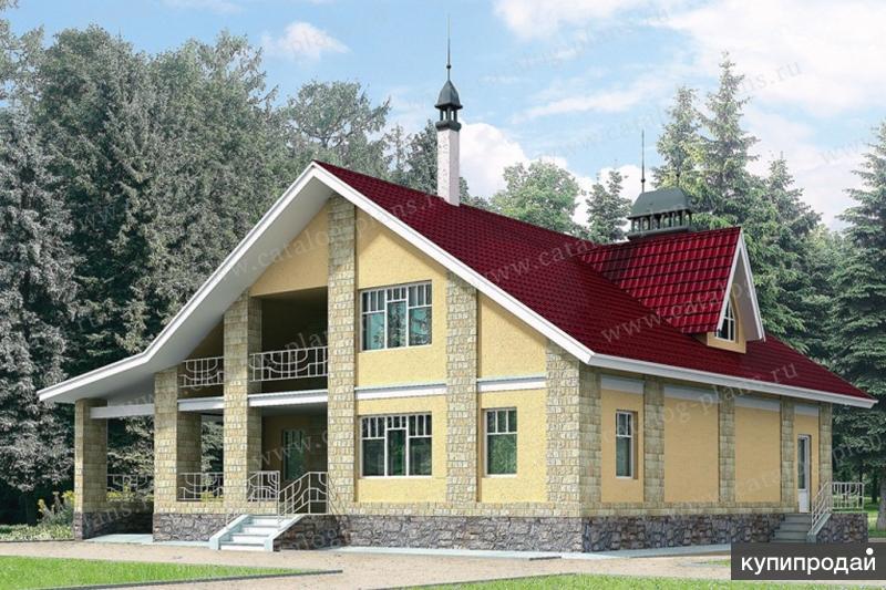 Проект каркасного дома с гаражом.