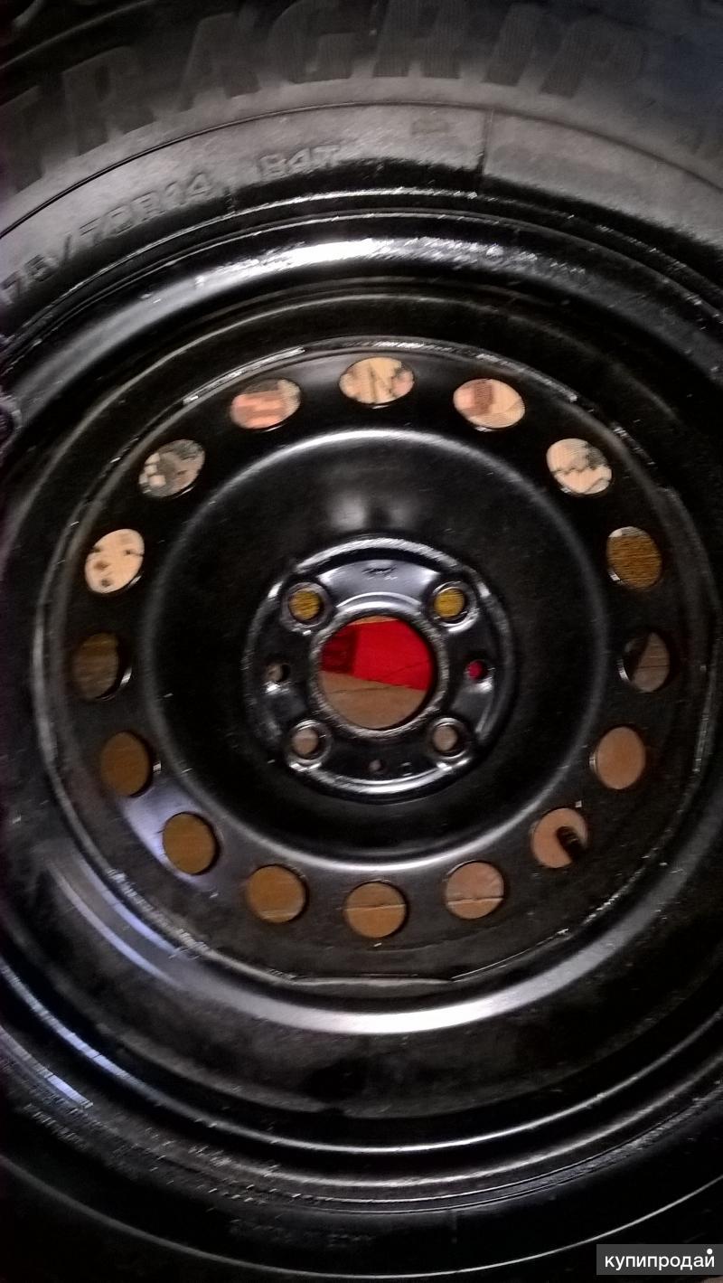 Шипованные шины с дисками,задние колодки,для Fiat Albea,колпаки.