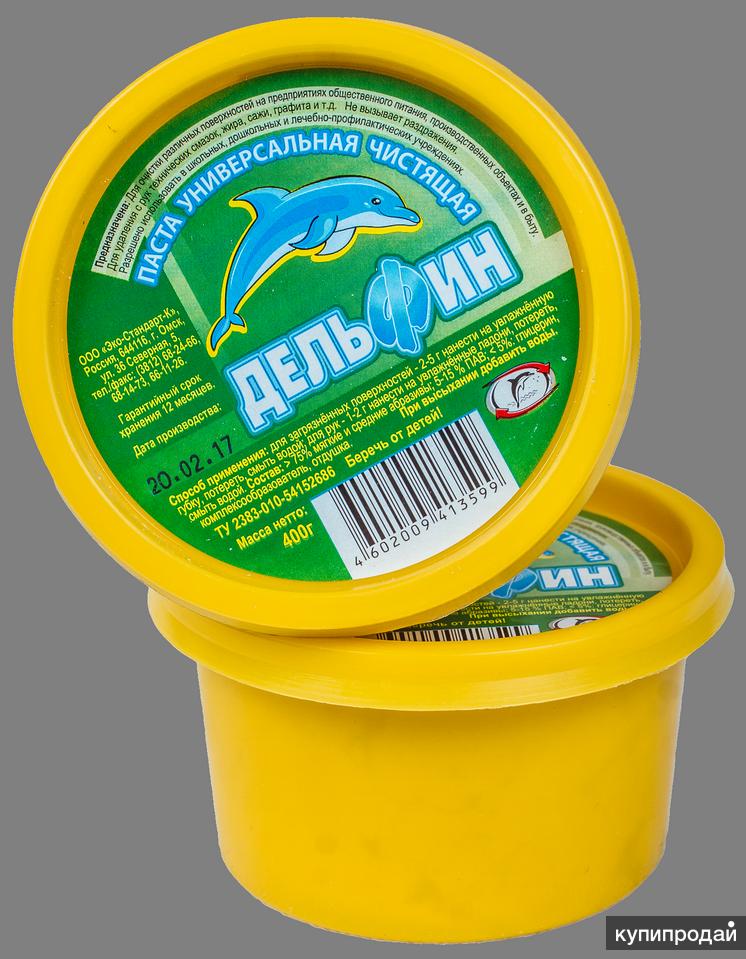 Дельфин, чистящая паста 2 в 1 для рук и сантехники