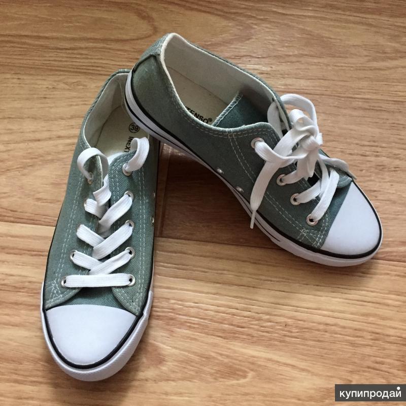 Кеды типа Converse размер 38 серые