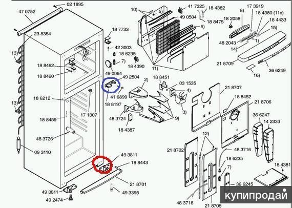 Схема холодильника лж ноу фрост