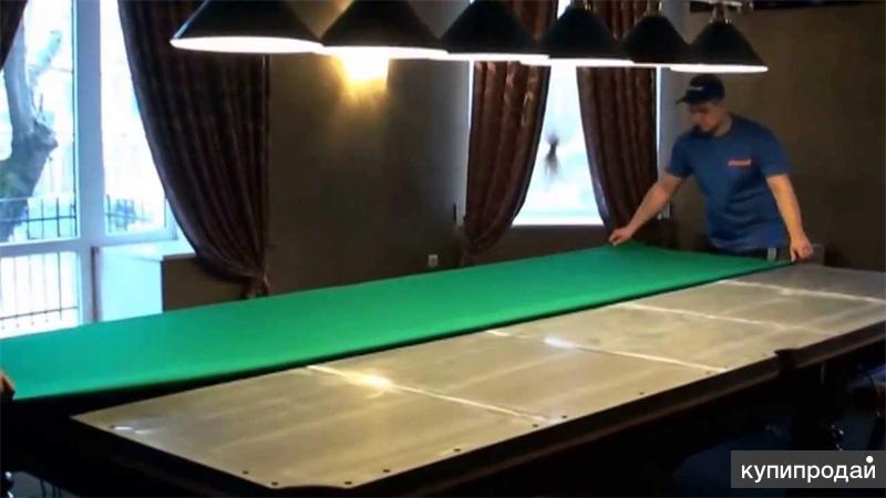 Перетяжка сукна бильярдного стола  видео