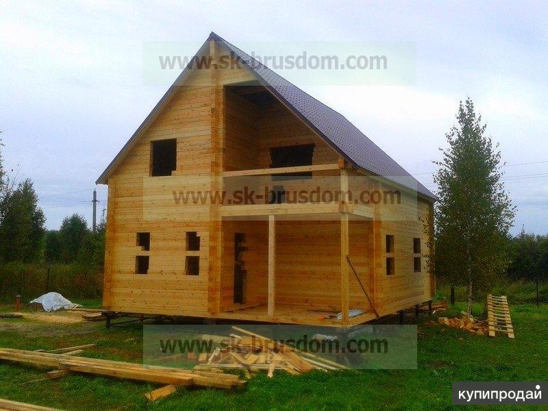 """Строительство домов и бань из профилированного бруса под усадку и под """"ключ""""."""