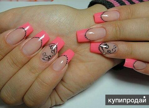 Фото рисунок на квадратные ногти