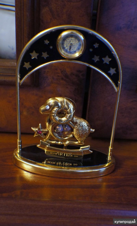 Настольные часы «Овен», сваровски, новые