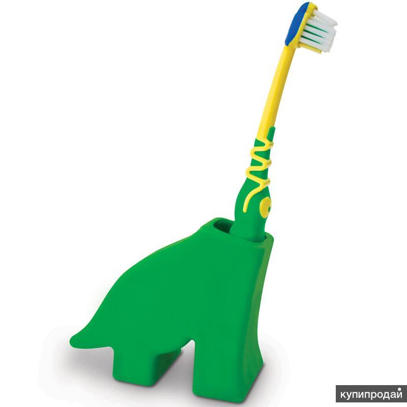 Держатель для зубной щетки Dinosaur зеленый