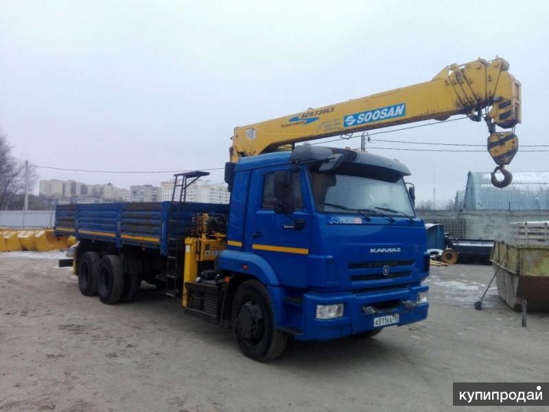 КМУ КАМАЗ 65117 + SOOSAN SCS736LII, б/у