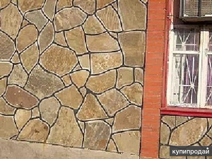 Как положить дикий камень на стену