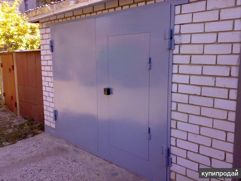 Как вырезать калитку в гаражных воротах