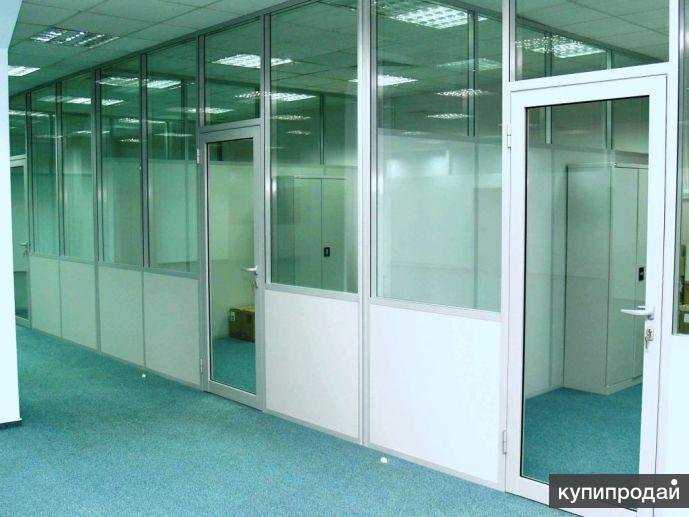 Офисные  перегородки; ремонт, монтаж, изготовление