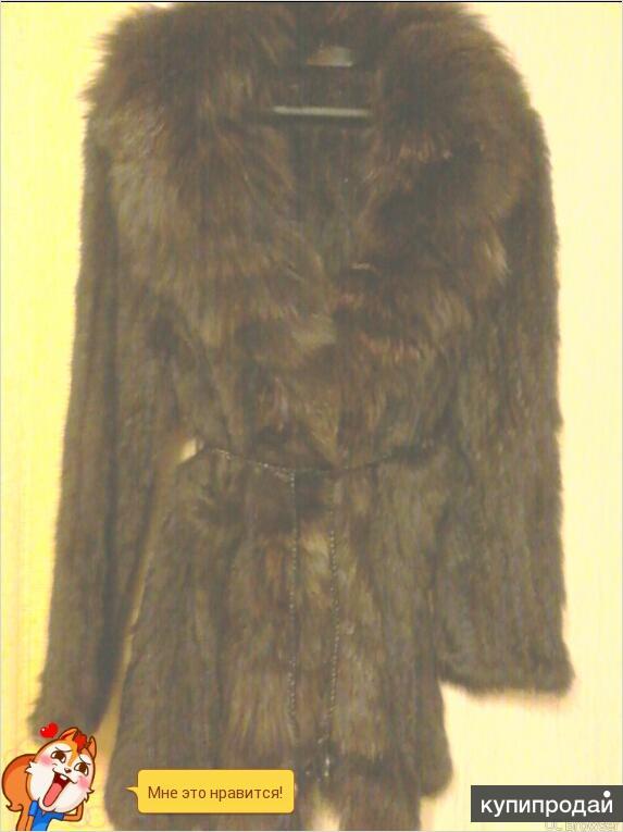 кофта ,пальто,накидка,вязаный кролик с лисой