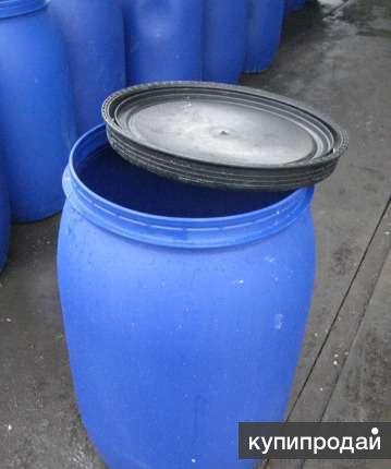 Бочки пластик 227 л с крышкой Оpen-Top Б/У.обработанная