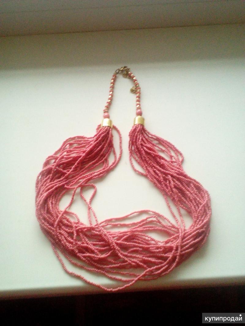 Бусы розовый коралл