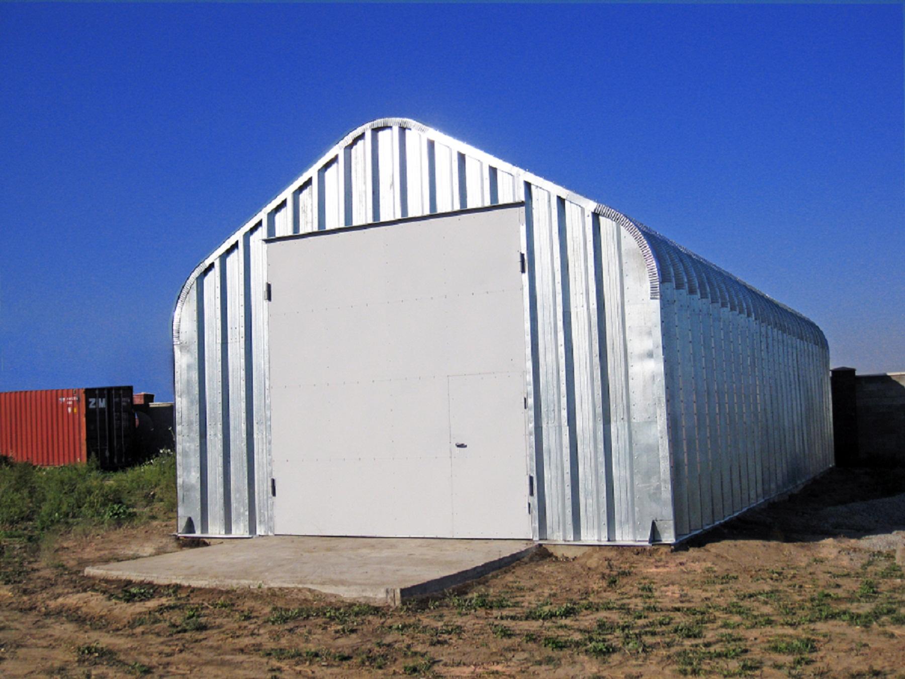 Бескаркасный, арочный, разборный ангар со склада в Омске