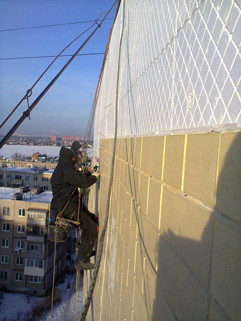 Производим работы по утеплению стен и фасадов, лоджий, балко.