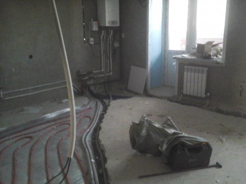 Монтаж сантех систем.отопление радиаторное напольное.водоснобжение.канализацыя.