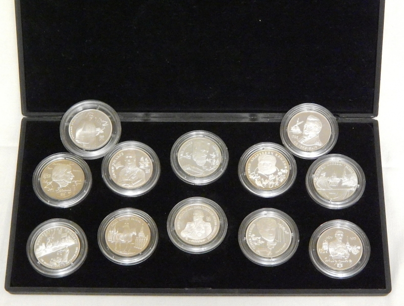 Набор 2-х рублевых серебряных монет 1994-95гг.