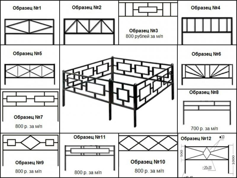 Оградка на могилу размеры стандартные изготовление памятников тюмень юрга