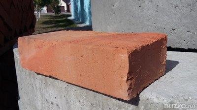 Кирпич керамический рядовой полнотелый, М100