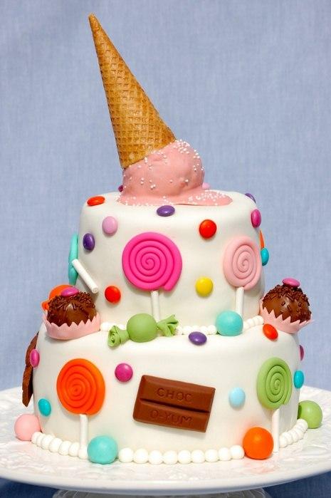 Оформление детских тортов картинки