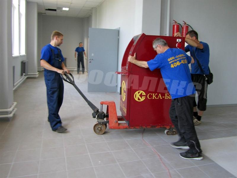Перевозка банкомата, такелаж, монтаж