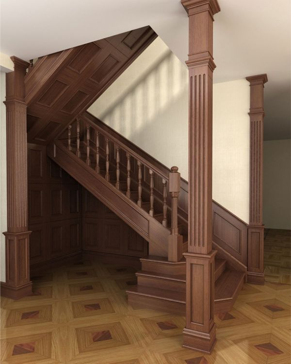 Деревянные лестницы в Калининграде