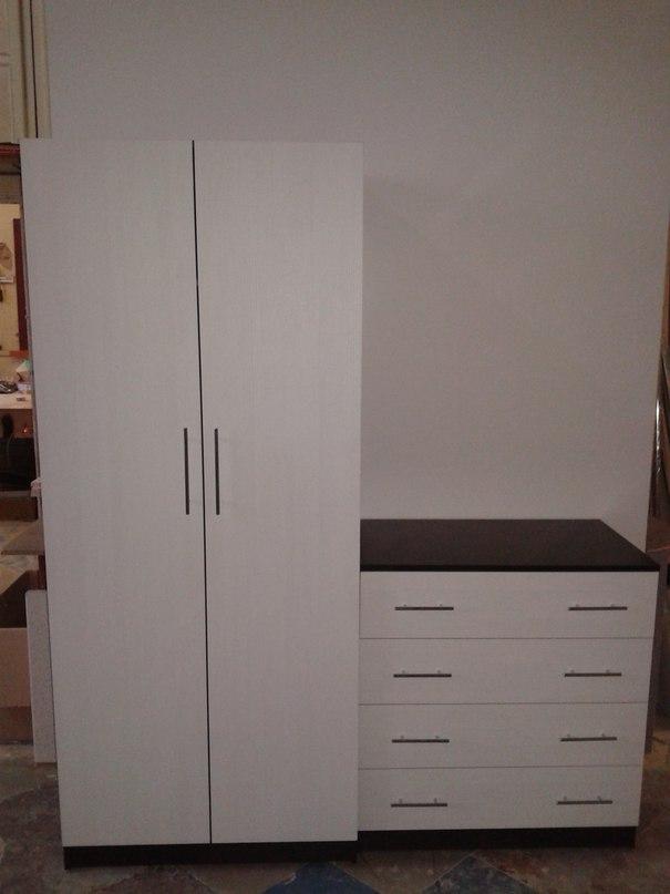 шкаф для спальни плательный с комодом фото цвета
