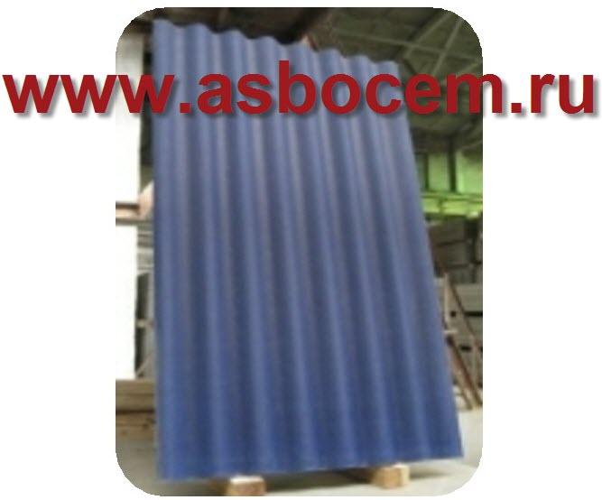 Шифер волновой 1750х1130х5,2 мм, тип СВ-40, синий, 8 волн