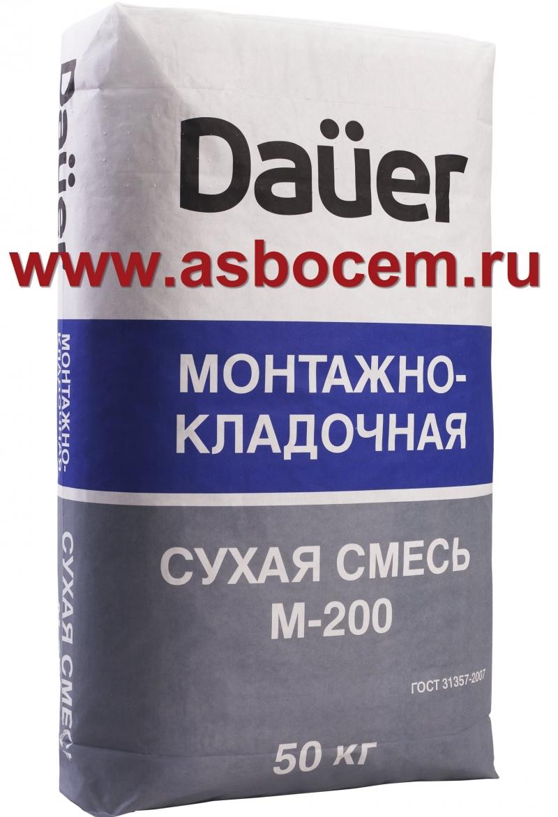 """Сухая смесь монтажно-кладочная М-200 """"DAUER"""" (Дауэр). Мешок 40 кг."""