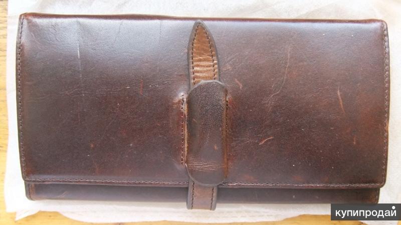 Бумажник портмоне, натуральная кожа