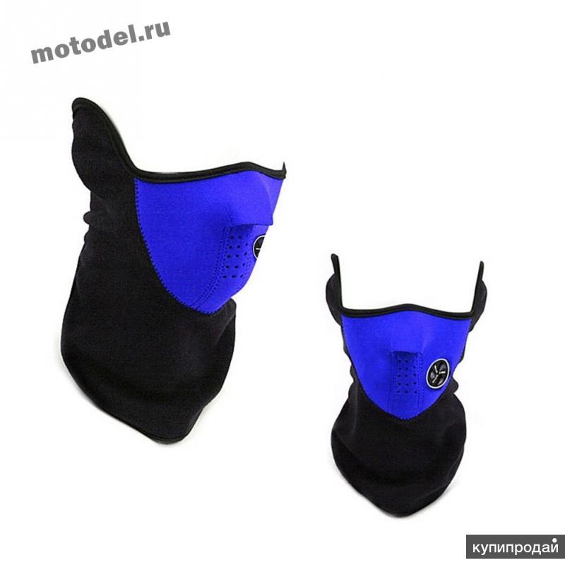 Балаклава - маска, флис, для активных видов спорта - сноуборд, снегоход, кросс