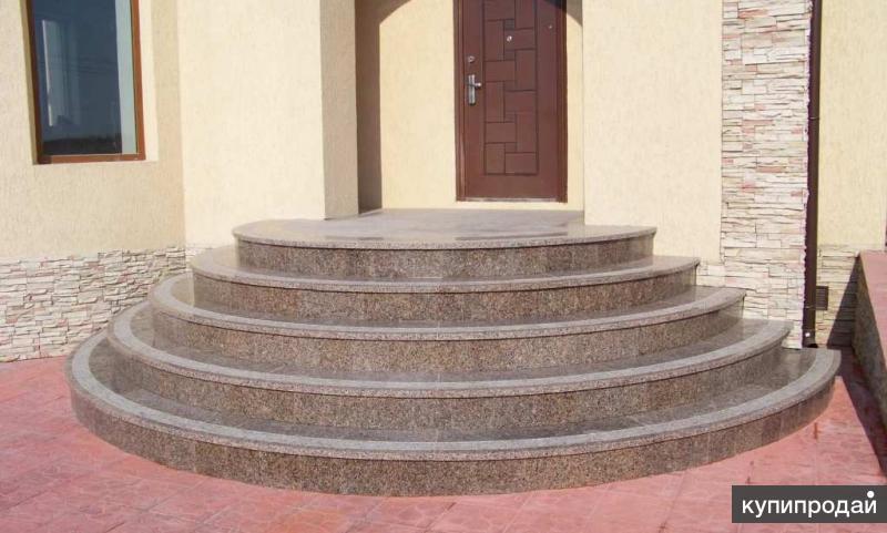 Монолитные лестницы. Облицовка гранитом