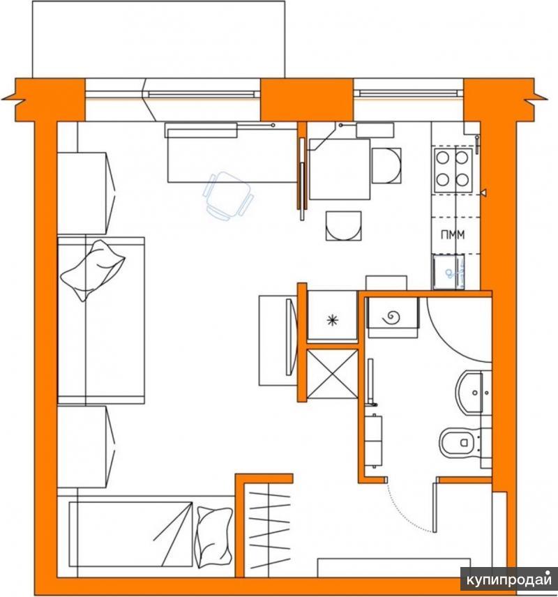 планировка квартира однокомнатная хрущевка фото дизайн