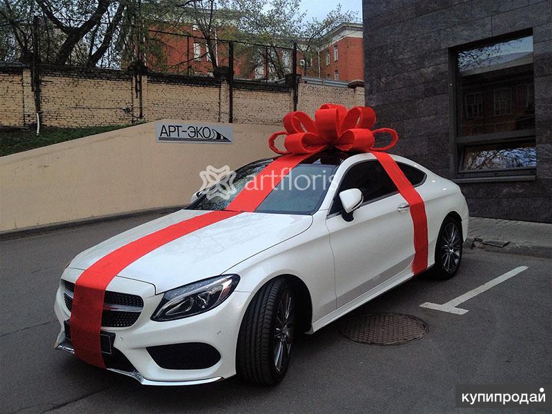 Шикарный бант для дорогого подарка. Большой бант на крышу машины